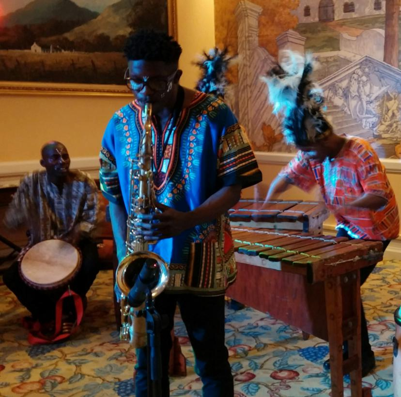 Marimbas with Sax